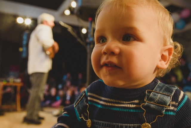Toddler at concert